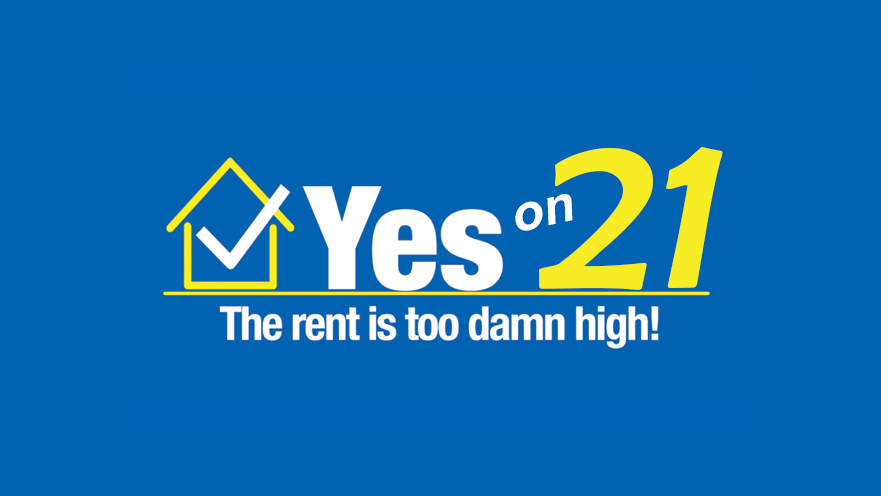 Los Angeles - Vote for Proposition 21: Rent control
